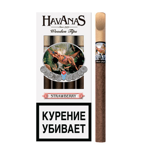 Havanas Wooden Tip - Strawberry